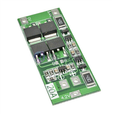 2S 20A 8.4V 18650 Lithium Li-ion Battery BMS Charger Protection Balance Board