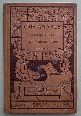 CRIB AND FLY TERRIERS CHARLES F DOLE ANTIQUE BOOK DOGS PETS Children's Vintage