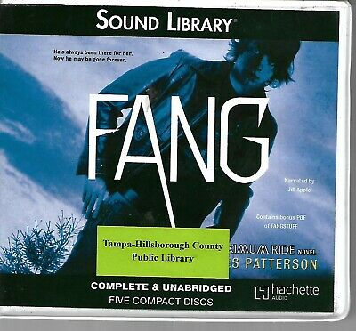Fang Maximum Ride audio book James Patterson Unabridged 5 CDs used