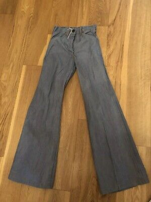 Vintage 70's Kids Blue Flared  Jeans Trousers Deadstock Age 10