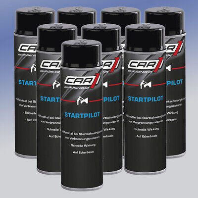 CAR1® CO3605 Startpilot 8 x 250 ml Starthilfespray Kaltstartspray Startspray