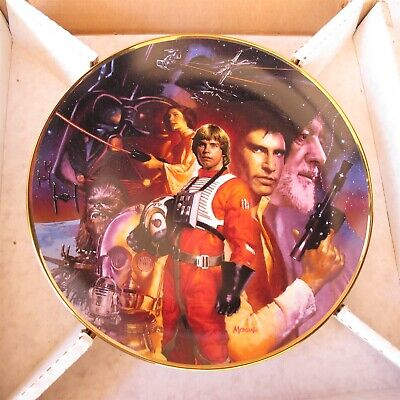 Star Wars Trilogy Plate By Morgan Weistling Hamilton Collection 1992 LE Nice
