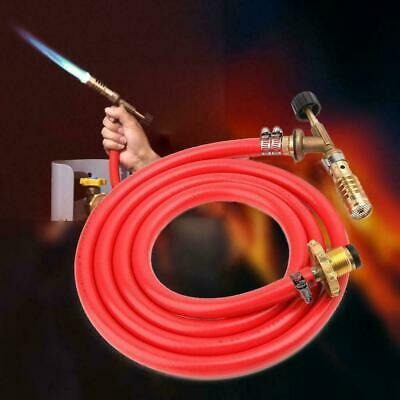 Gas Self Ignition Plumbing Turbo Torch With 2m Hose Solder Propane Welding