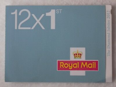 Royal Mail Stamps. 1st CLASS Book of 12 Letter stamps.