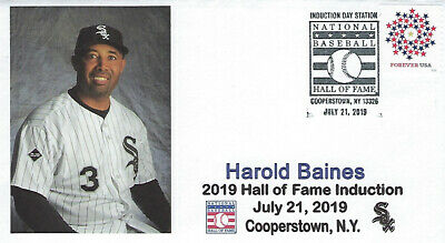 Harold Baines 2019 Baseball Hall Of Fame Induction Cachet Chicago White Sox