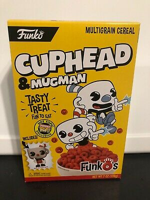 Funko Cuphead and Mugman Cereal with Hot Topic Exclusive pocket pop