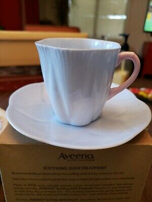 Shelley Oleander Blue Tea Cup & Saucer Fine Bone China #17564 S10
