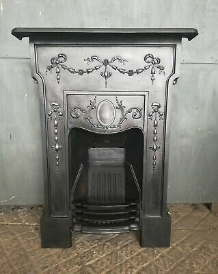 An Attractive Victorian Cast Iron Combination Bedroom  Fire Fc0056