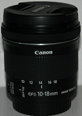 Canon EF-S 10-18mm f/4.5-5.6 IS STM in pristine condition