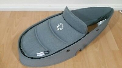 Brand New bugaboo bee 3 grey melange carrycot fabric with apron