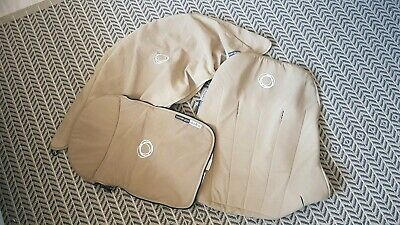 Bugaboo cameleon 1 & 2 sand canvas breeze hood, apron and seat cover