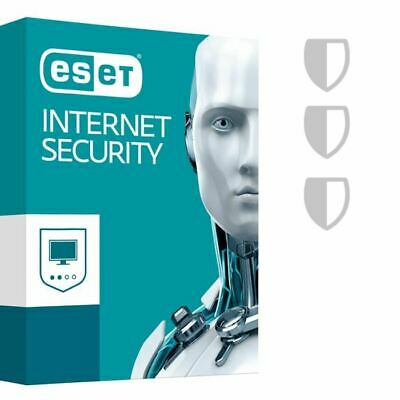 ESET NOD 32 Internet Security 12 2019 Licenza 3 PC 2 anni Vinci 7,8,10