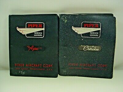 Vintage Piper Aircraft Manual Piper Aztec Manual Piper Cherokee Manual