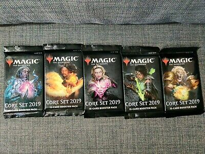 5x Core Set 2019 Sealed Booster Pack M19 - MTG Magic the Gathering 5 packs