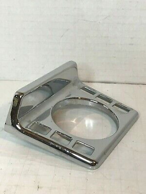 Vintage MCM Chrome Wall Mount Toothbrush  Cup Holder