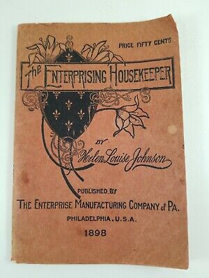 The Enterprising Housekeeper Second Edition Antique  1898