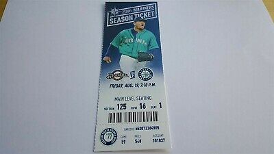 Brent Suter MLB Debut Seattle Mariners vs Milwaukee Brewers 8/19/16 Ticket Stub