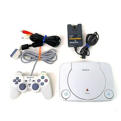 Sony PlayStation 1 PS1 Slim PSone Console Complete w/ Controller Tested Working