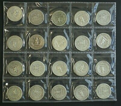USA Silver 25c 1938-1951 16 Different