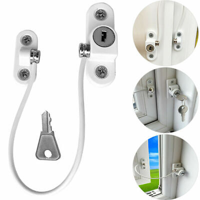 2Pcs UPVC Window Door Cable Restrictor Lock Child & Baby Safety Security