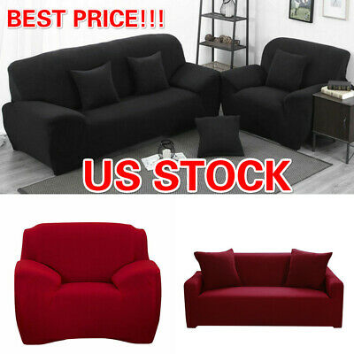 50% OFF!! 1 2 3 Seater Stretch Chair Sofa Covers Couch Cover Elastic Slipcover