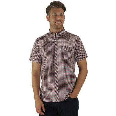 Regatta Mens Randall Short Sleeve Coolweave Cotton Button Up Shirt