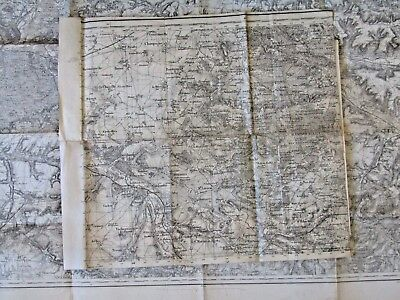 Antique French map Foret de Rambouillet or Forest of Yveline