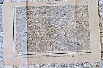 Antique French map of Commercy 1925