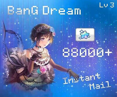 JP](GIFT FOR 2+)Rk 3,2×4*,85000+ Gems,2×3*tk BanG Dream,Girls Band Party account