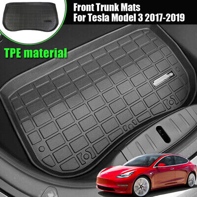 TPE Before Cargo Tray Trunk Floor Mat  Rubber Waterproof for Tesla Model 3 17-19