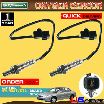 2x O2 Oxygen Sensor for Hyundai XG300 2001 V6 3.0L Upstream Front and Rear