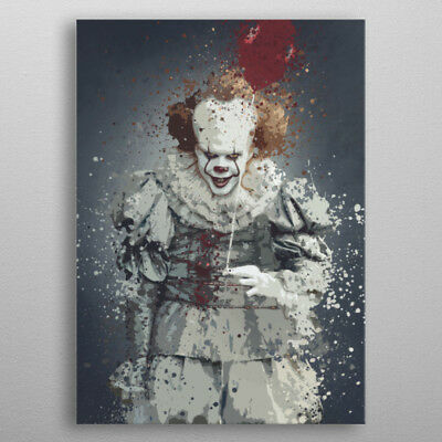 Pennywise ça 2017 Splatter Metal poster en métal artwork It Displate clown 32x45