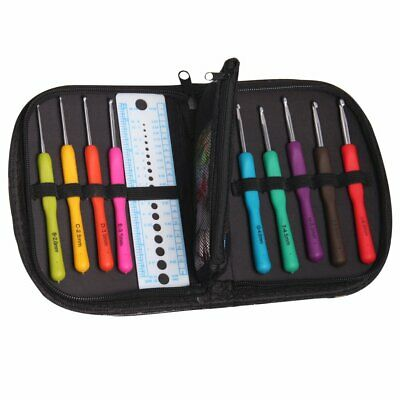 Knit Pro Waves Soft Grip Easy Hold Crochet Hook Sets and individual Multi hooks