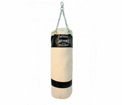 "48"" Last Punch Heavy Duty Black Punching Bag with Chains MMA Boxing Training"