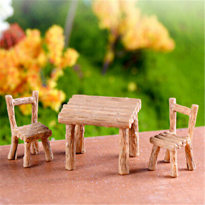 Floral Table Chairs Miniature Landscape FairyGarden-DecorationDollhouseAccessHGU