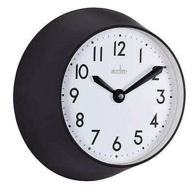 Acctim Wixham Retro Small Deep 25cm Wall Clock Kitchen Home Or Office