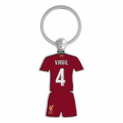 Liverpool FC Red Football Virgil Kit Keyring 19/20 LFC Official