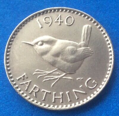 1940 King George Vi Farthing Coin 80Th Birthday / Anniversary