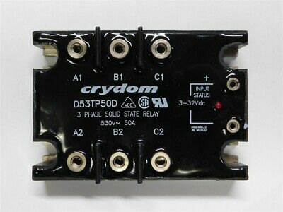 Crydom D53TP50D 3-Phase 50A 530VAC, 3-32V Control, Solid State Relay USED