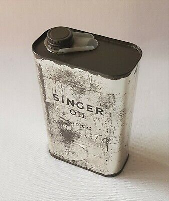Vintage Singer Sewing Machine 950Cc Oil Tin With Its Original Pouring Spout