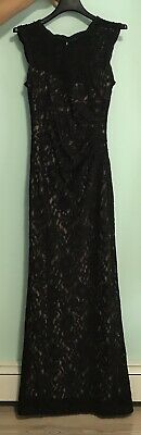 New Macys Black Lace Dress Lined Stretchy Flattering Sexy