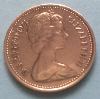 1974 Queen Elizabeth Ii Decimal Half Penny Coin 46Th Birthday / Anniversary