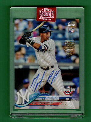 2019 Topps Archives Signature Miguel Andujar Auto On Card 1/1 2018 Topps Rc