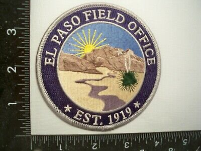 Federal FBI El Paso, Texas Police Patc Var. TX Law Enforcement Gman