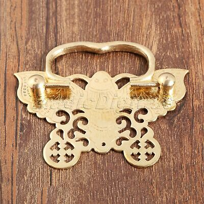 Chinese Vintage Engraving Style Cabinet Dresser Drawer Brass Handle Pull Knob