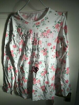 Primark Girls 12-13 Years Pink/White Long Sleeved Top (New With Tags)