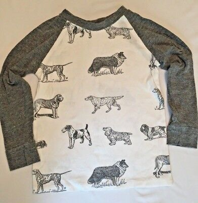 Handmade Dog Print Soft Knit Long Sleeve Shirt Boys Size 4