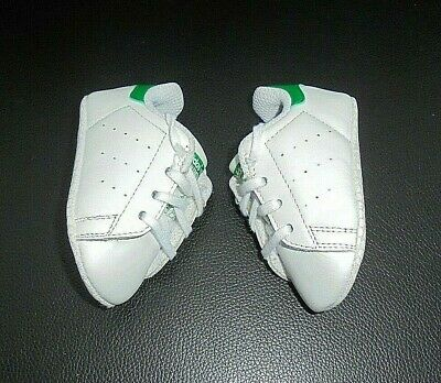 cheaper 1b4cc d3f69 BABY BOYS ADIDAS Stan Smith Crib Shoes Uk Size 0 / Eur 16