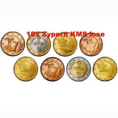 Zypern KMS 2008 ST 1 Cent - 2 Euro 10 x lose KMS