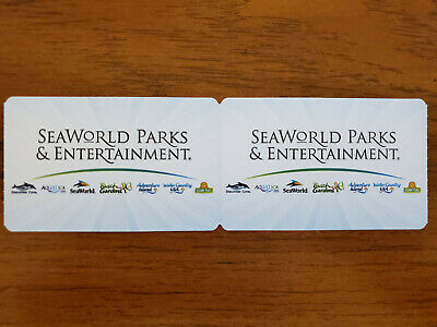 2x One Day General Admission Tickets - Seaworld Sea World San Diego Exp 6/21/20